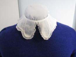 Petit Col  Ancien En Coton Et Dentelle Années 40 Voir Détails Sur Photos TBE N°8 - Vintage Clothes & Linen