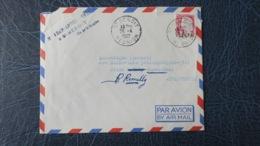 Reunion Lettre De Saint Benoit  1969  Type Decaris  Surcharge 12 Fr CFA  Pour La France - Réunion (1852-1975)