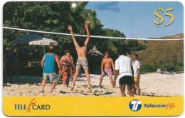 Fiji - Telecom Fiji - Bula Fiji Tourism, Volleyball, Cn.99096, Remote Mem. 5$, Used - Figi