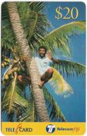Fiji - Telecom Fiji - Bula Fiji Tourism, Tree Climbing, Cn.99100, Remote Mem. 20$, Used - Figi