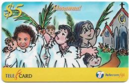 Fiji - Telecom Fiji - Easter, Hosanna!, Cn.99117, Remote Mem. 5$, Used - Figi