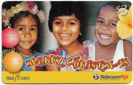 Fiji - Telecom Fiji - Christmas, Children, Cn.99187, Remote Mem. 3$, Used - Figi