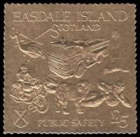 """Easdale Island 1991 SPECIMEN  """"fire, Firemen, Feuerwehr"""" - Firemen"""