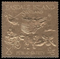 "Easdale Island 1991 SPECIMEN  ""fire, Firemen, Feuerwehr"" - Sapeurs-Pompiers"