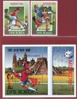 Korea 1985, SC #2531-33, 2V+S/S, Specimen, Mexico World Cup, Football - Fußball-Weltmeisterschaft