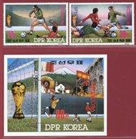 Korea 1985, SC #2538-40, 2V+S/S, Specimen, Mexico World Cup, Football - Fußball-Weltmeisterschaft