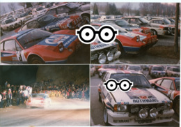 70s 80s Voiture Rallye Course Lot 6 Photos Couleur Rare Pub Mobil Rothmans Opel Porsche Mazda Eminence Tuning Mercedes - Automobili