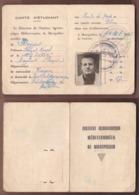 AC -  FRANCE STUDENT CARD MEDITERRANEAN AGRICULTURAL INSITUTE MONTPELLIER 25 FEBRUARY 1963 - Diplomas Y Calificaciones Escolares