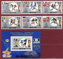 Korea 1986, SC #2557-63, 6V+S/S, Specimen, Mexico World Cup, Football - Fußball-Weltmeisterschaft