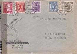 ALLEMAGNE  BERLIN  : Divers Sur Lettre De 1946 Avec Censure Pour La Suisse - Zone Soviétique