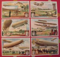6 Chromo Liebig : La Navigation Aérienne. 1911. S 1025. Chromos. - Liebig