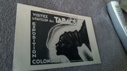 CPA Pavillon Des Tabacs - Publicité