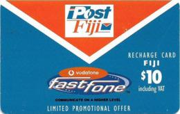 Fiji - Vodafone - Post Fiji, Fastfone, (With Text 'Limited Promo Offer'), Cn.01000, GSM Refill 10$, Used - Figi