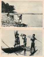 MICRONESIE LOT DE 2 CPA   CAROLINES Canaques à La Péche - Micronesia