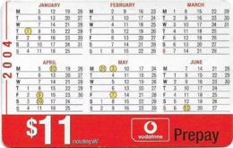 Fiji - Vodafone - Half Year Calendar 2004, Cn.00460, GSM Refill 11$, Used - Figi