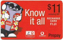 Fiji - Vodafone - Yo Man, Know It All, Cn.00550, GSM Refill 11$, Used - Figi