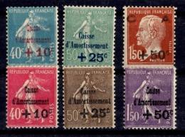 France Six Timbres De Caisse D'Amortissement Neufs *. B/TB. A Saisir! - Unused Stamps