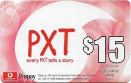 Fiji - Vodafone - Every PXT Tells A Story, Cn.00630, GSM Refill 15$, Used - Figi