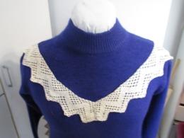 Joli Décor En Forme Pour Robe 1900, Dentelle Coton Voir Détails Sur Photos TBE N°13 - Vintage Clothes & Linen
