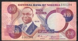 NIGERIA P21a   10 NAIRA  1984  #B/83  Signature 7   XF - Nigeria