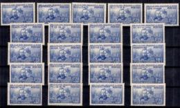 Grande Série Coloniale Curie 1938 Neufs **/*. B/ TB. A Saisir! - 1938 Pierre Et Marie Curie