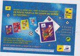 France 4 Cartes PAP Coupe Du Monde De Football 1998 3074-77 Paris Lyon Nantes Marseille - 1998 – Frankreich