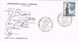 34636. Carta BARCELONA 1973. 53 Volta Ciclista Catalunya. Ciclismo. Mapa Etapas - 1931-Hoy: 2ª República - ... Juan Carlos I