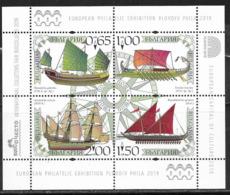 BULGARIA, 2019, MNH,  SHIPS, ANCIENT SHIPS, PLOVDIV PHILATELIC EXHIBITION, SHEETLET - Barche