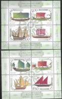 BULGARIA, 2019, MNH,  SHIPS, ANCIENT SHIPS, PLOVDIV PHILATELIC EXHIBITION, 2 SHEETLETS - Barche