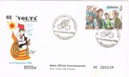 34637. Carta BARCELONA 1982. 62 Volta Ciclista Catalunya. Ciclismo. Numerada - 1931-Hoy: 2ª República - ... Juan Carlos I