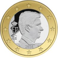 Belgie 2019  1 Euro Met De Afbeelding Van Koning Filippe  UNC Uit De BU - UNC Du Coffret  !!! - Belgique