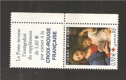 France, 3620, Avec Vignette, Paire, Neuf **, TTB, Croix-Rouge, La Vierge à La Grappe, Pierre Mignard - Neufs
