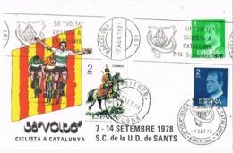 34638. Tarjeta BARCELONA 1978. 58 Volta Ciclista Catalunya. Ciclismo. Fechador SITGES Y Rodillo - 1931-Hoy: 2ª República - ... Juan Carlos I