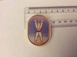 Insigne Broche Hologramme : Jeux Olympiques De Moscou 1980 - Haltérophilie - Plastique - Jeux Olympiques