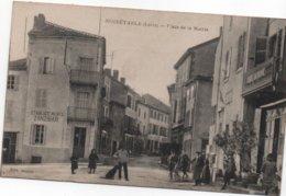 CPA B100   NOIRETABLE- PLACE DE LA MAIRIE-commerces-animée-ets.ZANZIBAR - Noiretable
