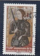 FRANCE 2012 -  600e ANNIVERSAIRE DE LA NAISSANCE DE JEANNE D ARC OBLITERE A DATE YT 4654 - Francia