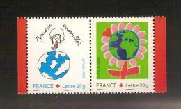 France, P3991, 3991/3992, Neuf **, TTB, Croix-Rouge, Dessine Ton Voeu Pour Les Enfants Du Monde - Neufs