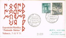 34640. Carta Certificada VALENCIA 1971. PLAN SUR. Peninsula Iberica, Alfabeto Iberico - 1931-Hoy: 2ª República - ... Juan Carlos I
