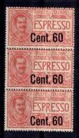 Italie Expres YT N° 8 En Bande De Trois Timbres Neufs** MNH. TB. A Saisir! - 1900-44 Vittorio Emanuele III