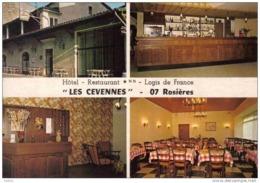 Carte Postale 07. Rosières En Ardèche  Hotel Des Cevennes  Mr. Reynouard  R. Prop.  Trés Beau Plan - France
