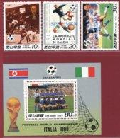 Korea 1988, SC #2729-32, 3V+S/S, Specimen, Italy World Cup, Football - Fußball-Weltmeisterschaft