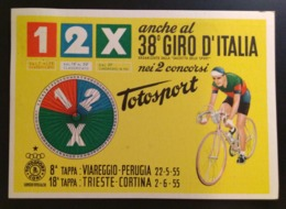 ITALIA 1955 CICLISMO 38 GIRO D'ITALIA GAZZETTA DELLO SPORT TAPPA TRIESTE - CORTINA D'AMPEZZO - Radsport