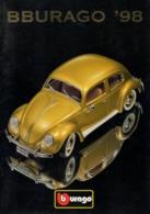 Catalogue BBURAGO 1998 Metal Kits Metal Models 1:18 1:24 1:43 1:87 - En Anglais - Catalogues & Prospectus