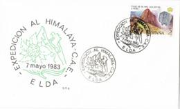 34641. Carta ELDA (Alicante) 1983. Expedicion Al HIMALAYA. Montañismo - 1931-Hoy: 2ª República - ... Juan Carlos I