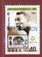 Korea 1989, SC #2844, Specimen, BRASILIANA '89, Football Hero Pele - Fussball