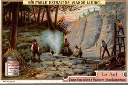 LIEBIG Chromo - Le Sel - Source D'eau Saline à Nauheim (Grand Duché De Hesse) - Liebig