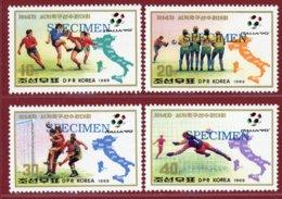 Korea 1989, SC #2878-81, Specimen, Italy World Cup, Football - Fußball-Weltmeisterschaft