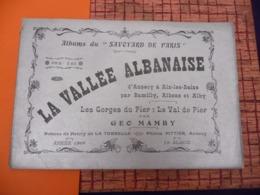 Vallée Albanaise Annecy à Aix Les Bains Par Romilly Albens Riby 1909 Publicité Voiture Delage - Bicyclette Tri-porteur - Alpes - Pays-de-Savoie