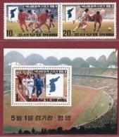 Korea 1990, SC #2937-38, Specimen, 2V+S/S, Reunification Football Games - Fussball