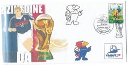 Algérie-Algeria-RARE Enveloppe Philatelique Tirage Limitée Coupe Du Monde France 1998-Zidane - 1998 – Frankreich